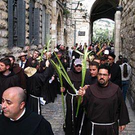 Květná neděle v Jeruzalémě