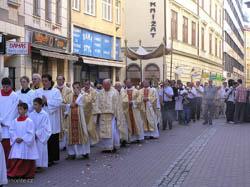 Průvod Božího těla v Brně