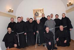 Provinční duchovní obnova v Praze  apoděkování Bohu zadar 102. let života  o. Bernardina Mráze