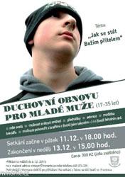 Brno: Duchovní obnova pro mladé muže (11.-13.12.2015)
