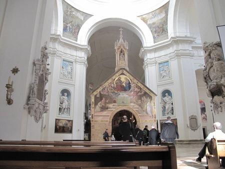 Zvěstování Páně – obraz v kostelíku Panny Marie Andělské v Assisi